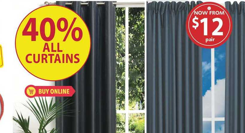 Lincraft 40% All Curtains