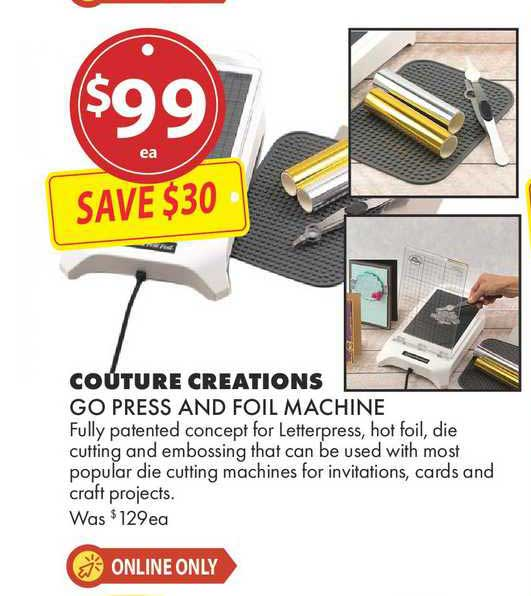 Lincraft Couture Creations Go Press And Foil Machine