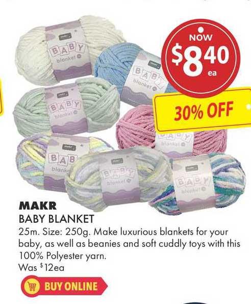Lincraft Makr Baby Blanket