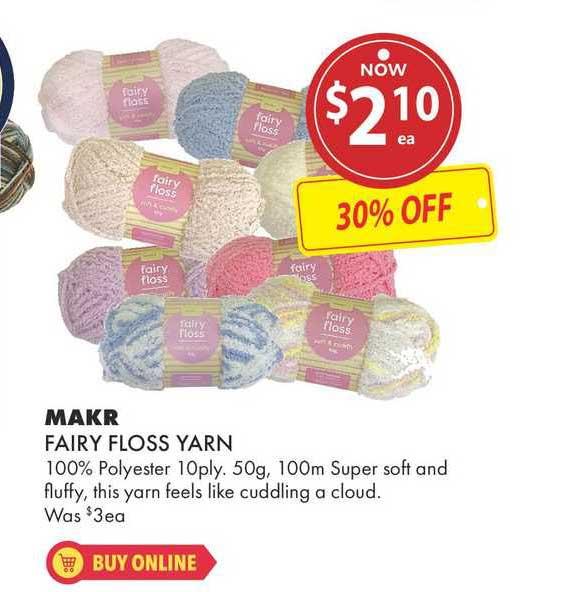 Lincraft Makr Fairy Floss Yarn