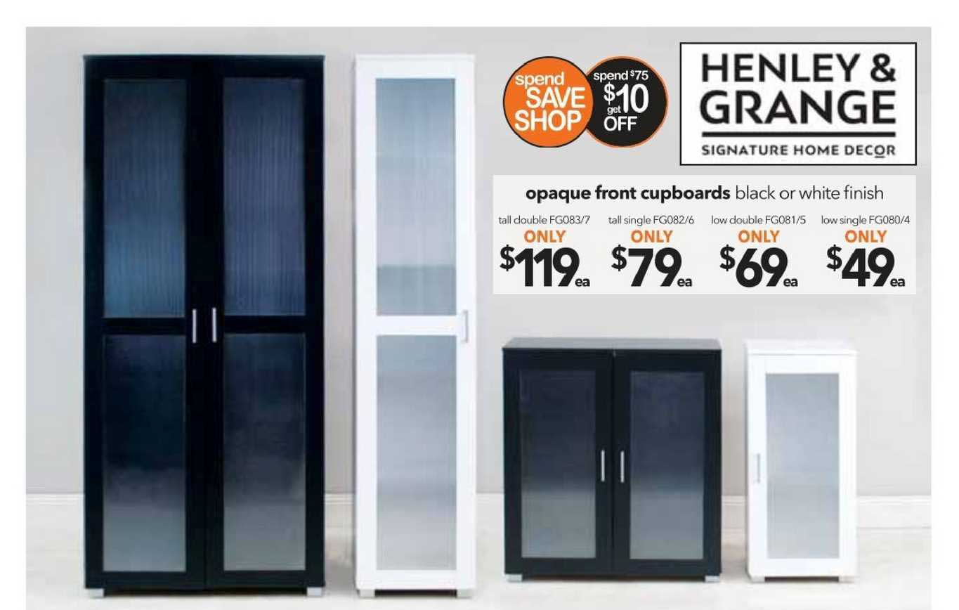 Cheap As Chips Opaque Front Cupboards
