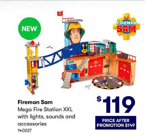 BIG W Fireman Sam Mega Fire Station Xxl With Lights, Sounds And Accessories