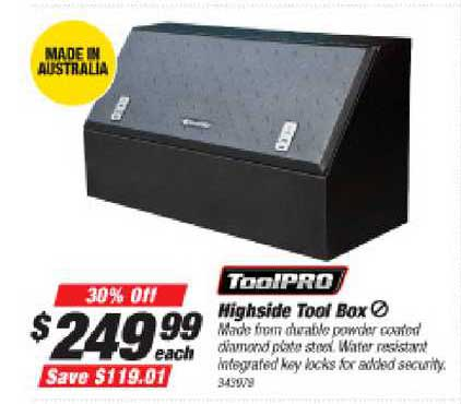 Supercheap Auto Tool Pro Highside Tool Box