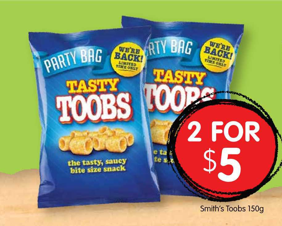 Spudshed Smith's Toobs 150g