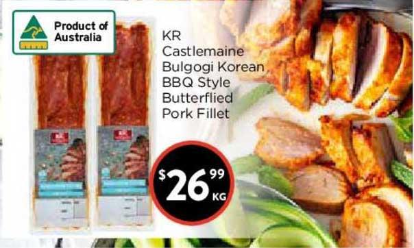 FoodWorks Kr Castlemaine Bulgogi Korean Bbq Style Butterflied Pork Fillet
