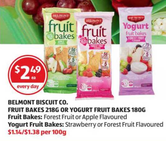 ALDI Belmont Biscuit Co. Fruit Bakes Or Yogurt Fruit Bakes