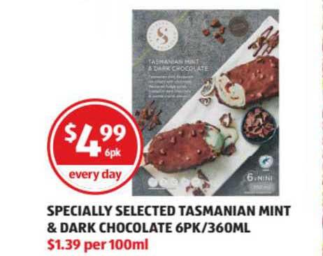 ALDI Specially Selected Tasmanian Mint & Dark Chocolate