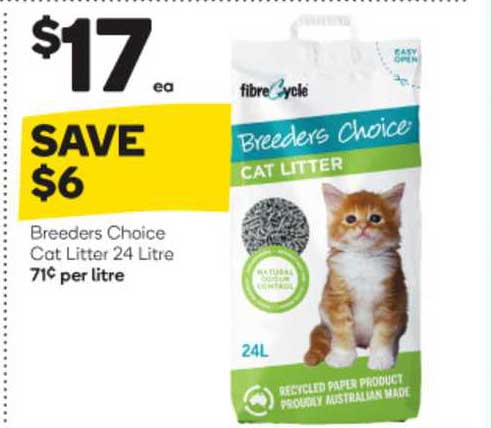 Woolworths Breeders Choice Cat Litter