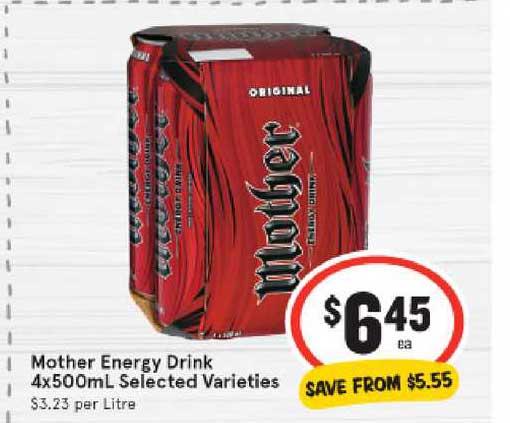 IGA Mother Energy Drink 4x500ml