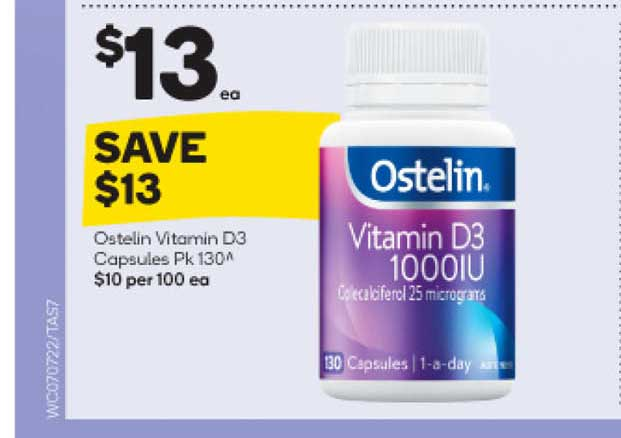 Woolworths Ostelin Vitamin D3 Capsules
