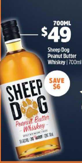 BWS Sheep Dog Peanut Butter Whiskey 700ml