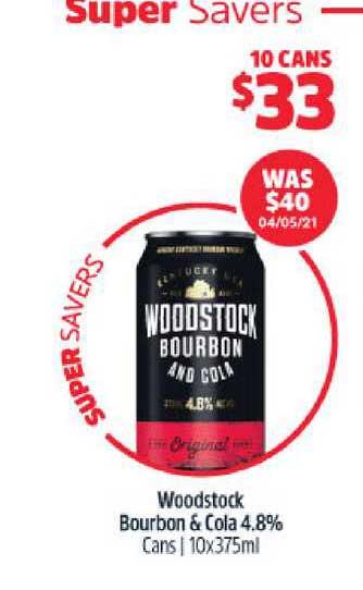BWS Woodstock Bourbon & Cola 4.8%