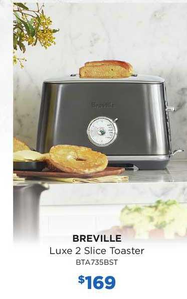 Bing Lee Breville Luxe 2 Slice Toaster