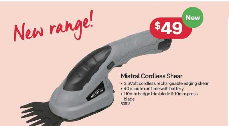 Australia Post Mistral Cordless Shear