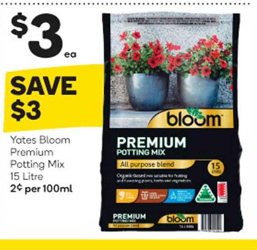 Woolworths Yates Bloom Premium Potting Mix 15 Litre