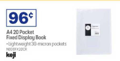 Officeworks A4 20 Pocket Fixed Display Book Keji