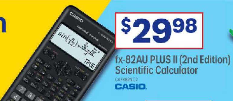 Officeworks Fx-82au Plus Ii (2nd Edition) Scientific Calculator