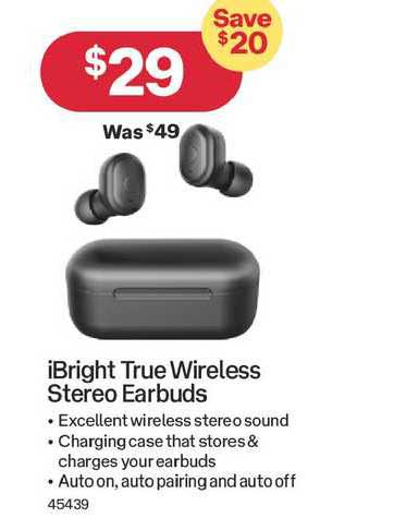 Australia Post Ibright True Wireless Stereo Earbuds