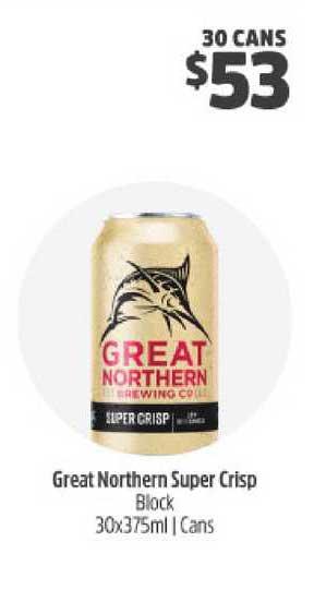 BWS Great Northern Super Crisp