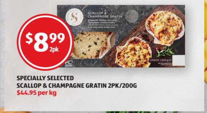 ALDI Specially Selected Scallop & Champagne Gratin