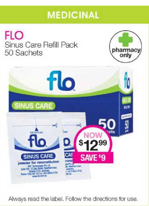 Priceline Flo Sinus Care Refill Pack 50 Sachets