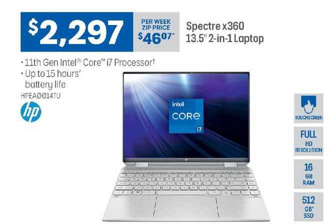 Officeworks Hp Spectre X360 13.5