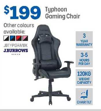 Officeworks J.burrows Typhoon Gaming Chair
