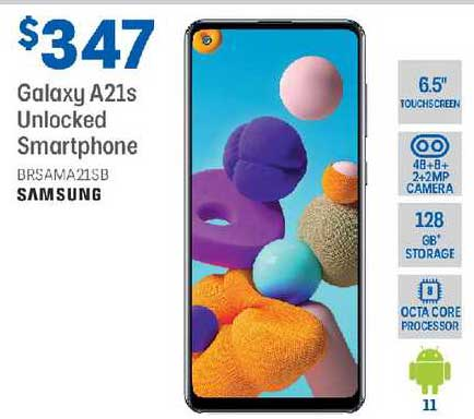 Officeworks Samsung Galaxy A21s Unlocked Smartphone