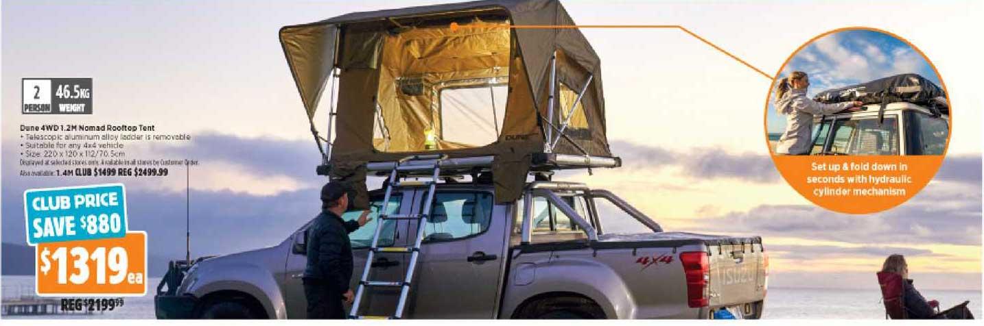 Anaconda Dune 4WD 1.2M Nomad Rooftop Tent