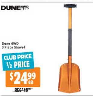 Anaconda Dune 4WD 3 Piece Shovel