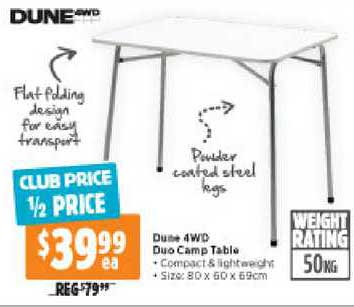 Anaconda Dune 4WD Duo Camp Table