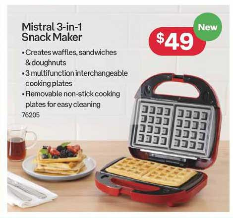 Australia Post Mistral 3-in-1 Snack Maker