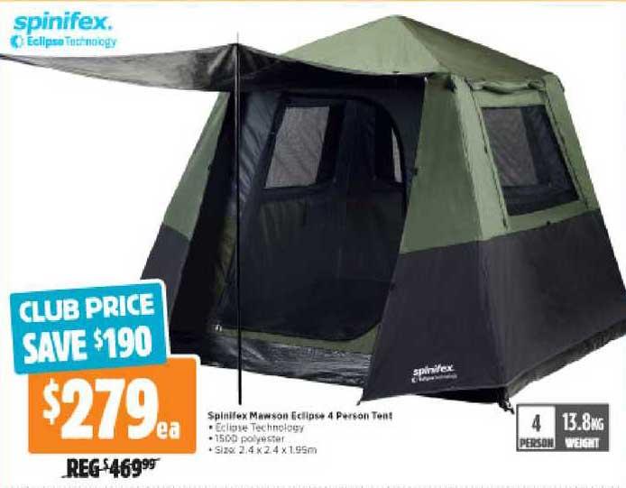 Anaconda Spinifex Mawson Eclipse 4 Person Tent
