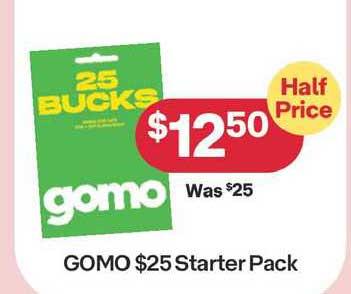 Australia Post Gomo $25 Starter Pack