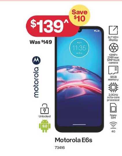 Australia Post Motorola E6s