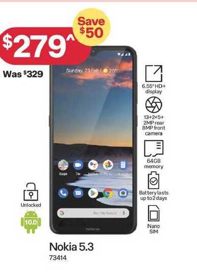 Australia Post Nokia 5.3