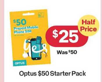 Australia Post Optus $50 Starter Pack