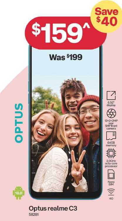 Australia Post Optus Realme C3
