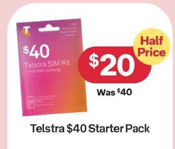 Australia Post Telstra $40 Starter Pack