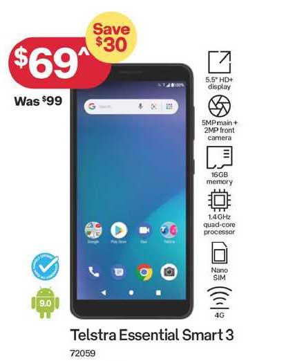 Australia Post Telstra Essential Smart 3