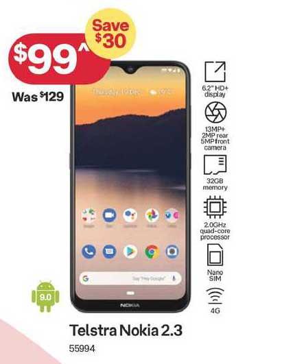 Australia Post Telstra Nokia 2.3
