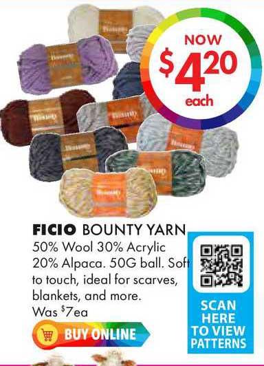 Lincraft Ficio Bounty Yarn