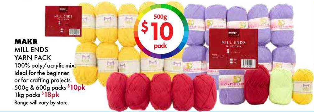 Lincraft Makr Mill Ends Yarn Pack