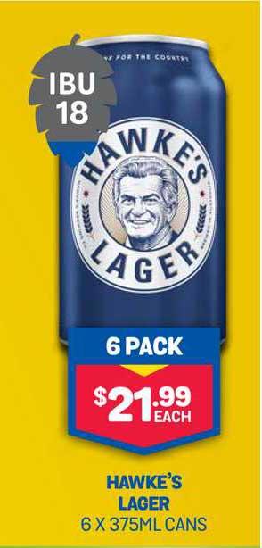Bottlemart Hawke's Lager