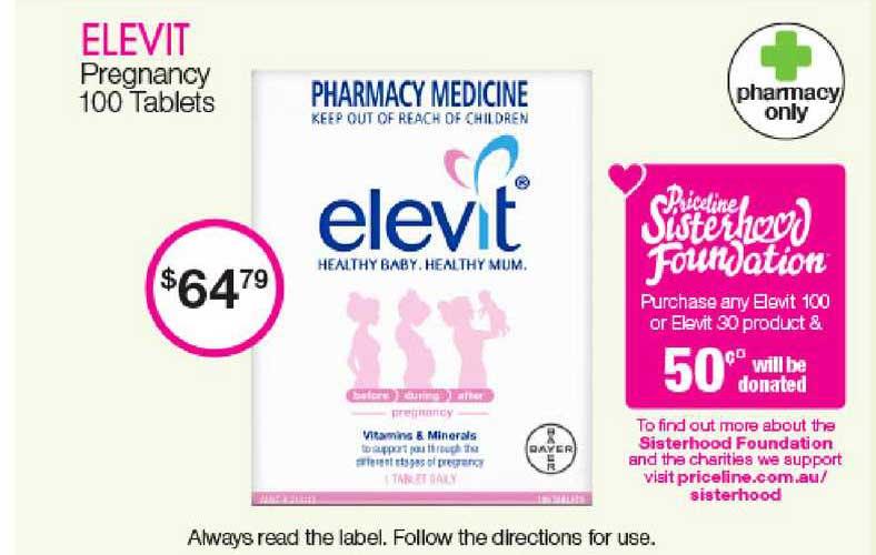 Priceline Elevit Pregnancy 100 Tablets
