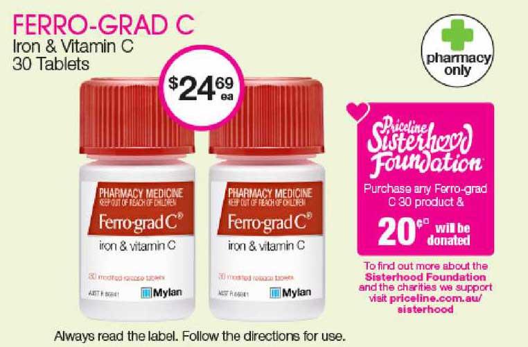 Priceline Ferro-Grad C Iron & Vitamin C