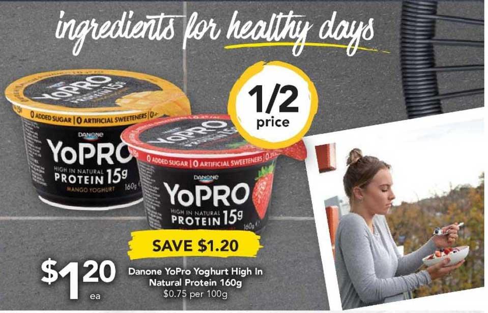 Drakes Danone Yopro Yoghurt High In Natural Protein 160g
