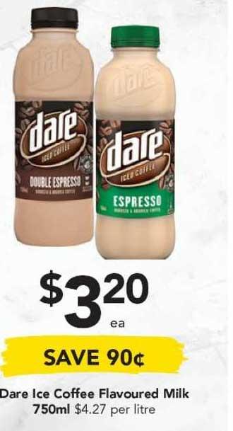 Drakes Dare Ice Coffee Flavoured Milk 750ml