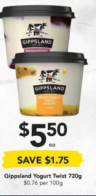 Drakes Gippsland Yogurt Twist 720g