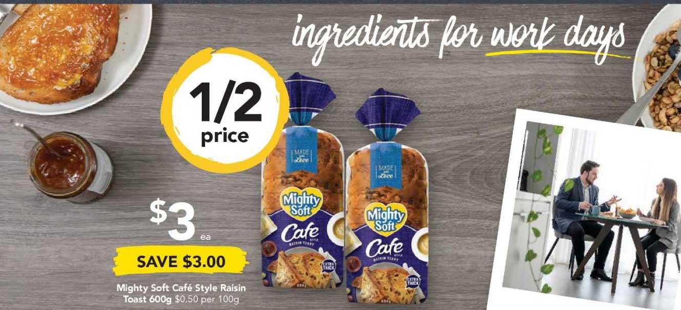 Drakes Mighty Soft Café Style Raisin Toast 600g